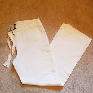 J. Crew City Fit Cotton/Linen Drawstring Pants